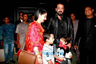Sanjay Dutt and Manyata Dutt snapped with kids post dinner at Yuatchaa