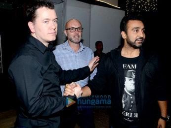 Shilpa Shetty and Raj Kundra snapped post dinner at Royal China