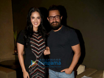Aamir Khan and Sunny Leone snapped at Lightbox