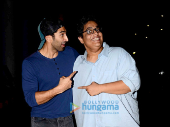 Aditya Roy Kapur snapped with friends post a movie