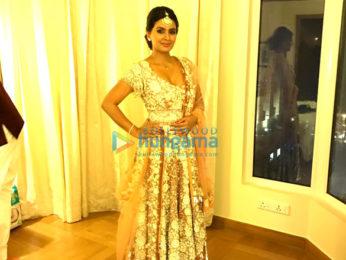 Geeta Basra and Harbajan Singh attends Yuvraj Singh and Hazel Keech's reception in Delhi
