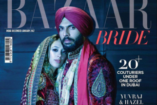 Hazel Keech & Yuvraj Singh On The Cover Of Harper's Bazaar, January 2017