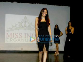 Pooja Chopra walks the ramp at a college's fashion fest