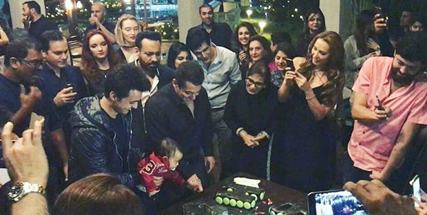 Check out Salman Khan all smiles as he cuts his birthday cake