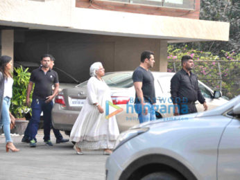 Salman Khan & Iulia Vantur snapped post Christmas brunch at Arpita Khan's house