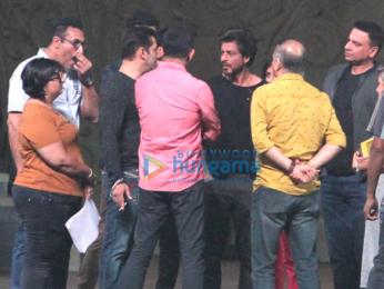Salman Khan, Shah Rukh Khan, Tiger Shroff and Tamannaah Bhatia snapped at 23rd Annual Star Screen Awards 2016 rehearsals