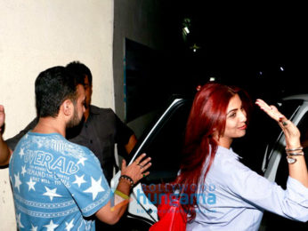 Shilpa Shetty Kundra & Raj Kundra snapped post a movie screening