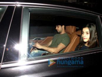 Sidharth Malhotra & Alia Bhatt snapped at Imran Khan's house