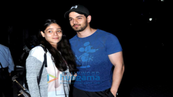 Sooraj Pancholi snapped with his sister at Sequel