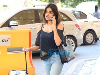 Tiger Shroff and Nidhi Agarwal snapped at the airport