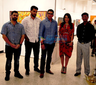 Pooja Bedi, Mukesh Rishi & Raghav Rishi inaugurate Padmanabh Bendre's Timeless Space art exhibition