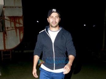 Varun Dhawan snapped post a screening of 'Dangal'