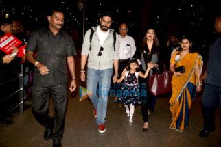 Abhishek Bachchan, Aishwarya Rai Bachchan, Anushka Sharma & Freida Pinto snapped at the airport