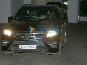 Arjun Kapoor and Aditya Roy Kapur snapped at Ranbir Kapoor's house