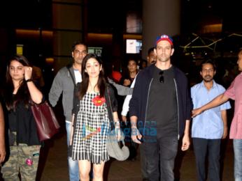 Hrithik Roshan & Yami Gautam return from 'Kaabil' promotions in Dubai