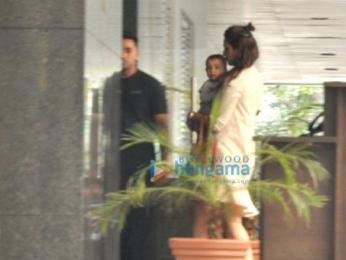 Huma Qureshi and Arpita Khan snapped post lunch at Hakassan