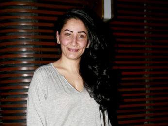 Maanyata & Amisha Patel snapped at Estella Lounge