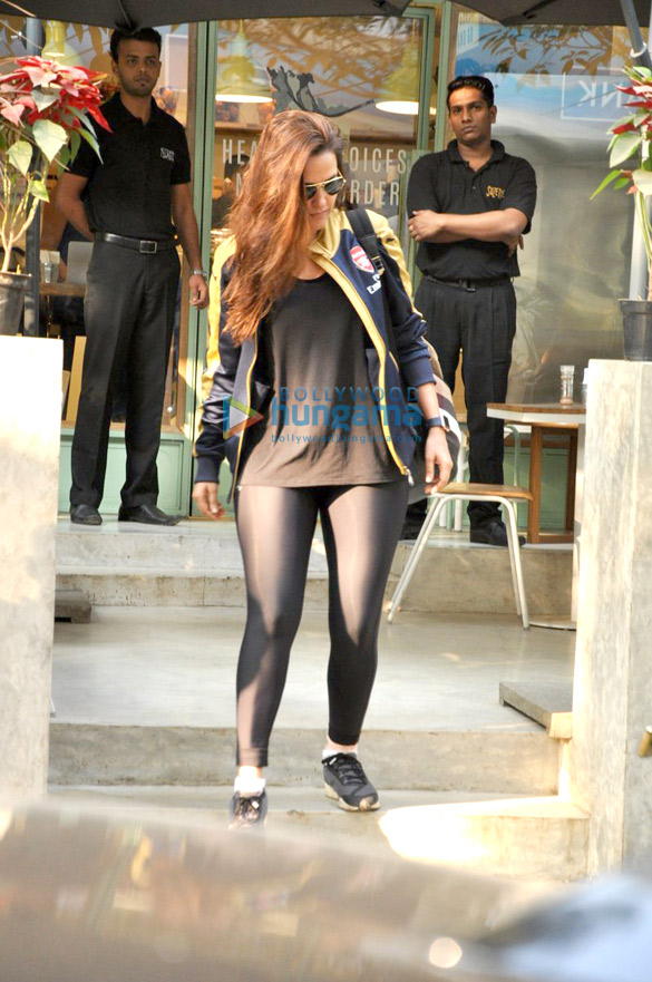 Neha Dhupia snapped post lunch at The Kitchen garden