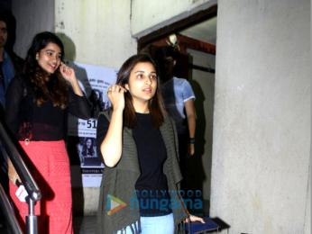 Parineeti Chopra & Katrina Kaif snapped post movie screening at PVR Juhu