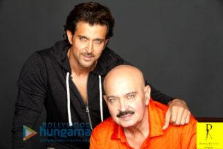 Celebrity Photos of Hrithik Roshan & Rakesh Roshan