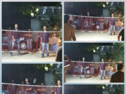 Ranbir Kapoor and Rajkumar Hirani playing a game of badminton