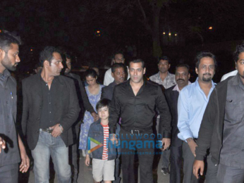 Salman Khan and family snapped at his driver Deepak Singh's son's wedding