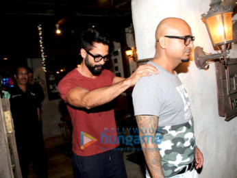 Shahid Kapoor snapped post salon session at Hakim Aalim's