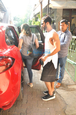 Shahid Kapoor and Mira Rajput snapped post lunch at a restaurant in Bandra