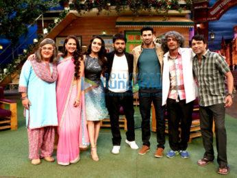 Shraddha Kapoor and Aditya Roy Kapur on the sets of The Kapil Sharma Show