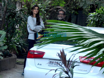 Sonam Kapoor snapped with R Balki in Bandra