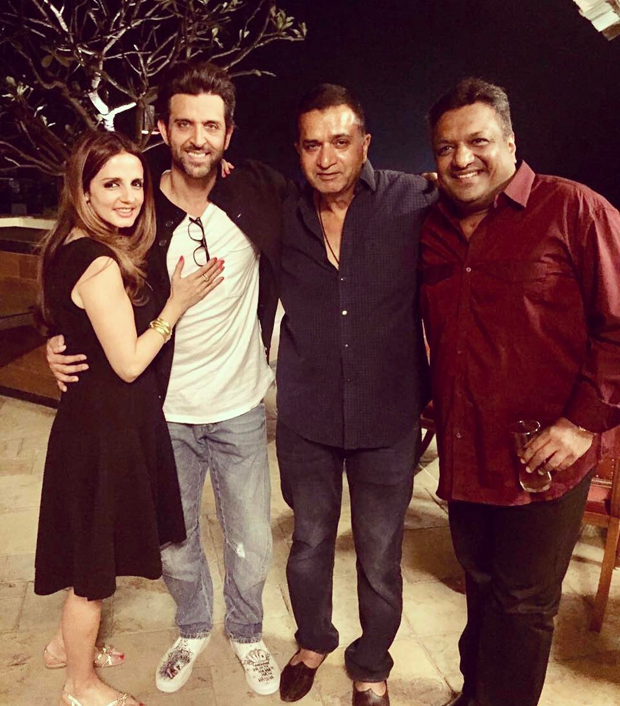 Susanne Khan poses with Hrithik Roshan celebrating the success of Kaabil-1