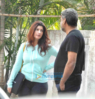 Twinkle Khanna snapped with R Balki at his office in Bandra