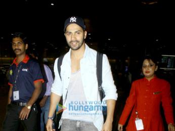Varun Dhawan, Farah Khan & Vidhu Vinod Chopra arrive in Mumbai