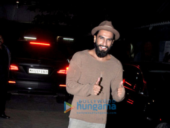 Ranveer Singh, Alia Bhatt, Varun Dhawan & others snapped at the special screening of 'OK Jaanu'