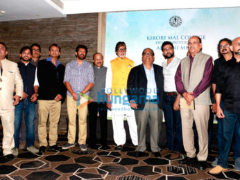 Amitabh Bachchan honoured at Kirori Mal College's alumni meet