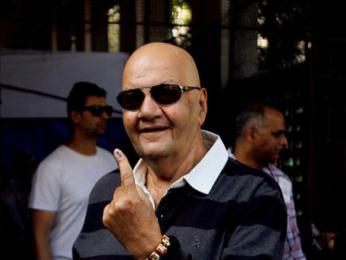 John Abraham, Kiran Rao, Prem Chopra and Priya Dutt cast their vote in Bandra