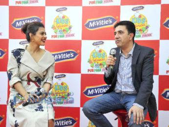 Kajol at the promotion of McVities Biscuit in Delhi