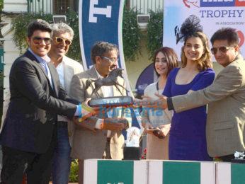 Kangna Ranaut snapped promoting her film 'Rangoon' at the Derby in Mumbai