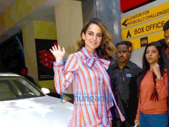 Kangna Ranaut promotes 'Rangoon' at Inox