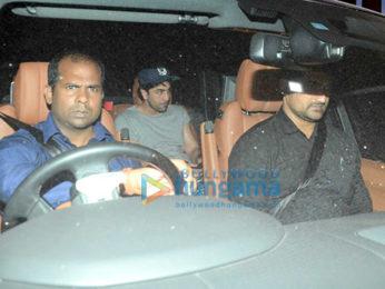 Kareena Kapoor Khan, Karisma Kapoor, Ranbir Kapoor, Saif Ali Khan and Sara Ali Khan snapped post dinner at Shashi Kapoor's house