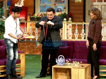 Rishi Kapoor and Neetu Kapoor Singh snapped on sets of The Kapil Sharma Show