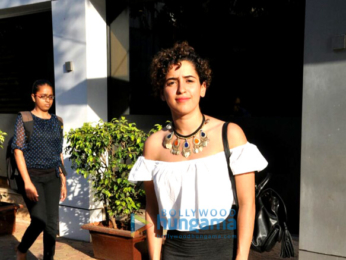 Sanya Malhotra snapped on her birthday post lunch with friends