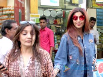 Shilpa Shetty snapped shopping in Bandra