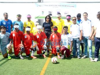 Shriya Saran graces Indian Blind Football Federation Demo Camp