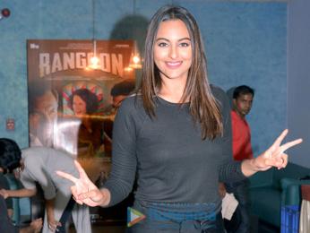 Sushant Singh Rajput, Kriti Sanon, Sonakshi Sinha and many more at the screening of 'Rangoon'