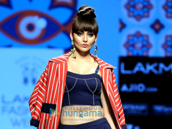 Urvashi Rautela walks the ramp at Lakme Fashion Week 2017