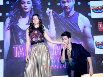 Varun Dhawan and Alia Bhatt at the song launch of 'Tamma tamma'