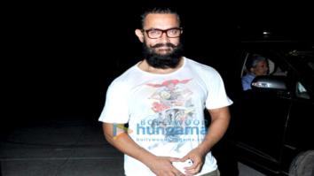 Aamir Khan & Sanya Malhotra snapped post dance practice for Secret Superstar