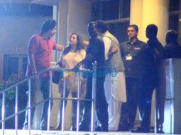 Abhishek Bachchan, Aishwarya Rai Bachchan and Sikander Kher snapped at Lilavati hospital