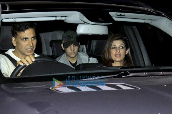 Akshay Kumar, Twinkle Khanna & Aarav snapped at PVR, Juhu